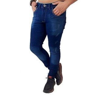 Calça jeans Masculina Azul Escuro Elastano Skynni Slim