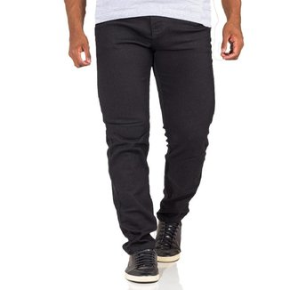 Calça Jeans Masculina Plus Size Sarja Color Com Elastano