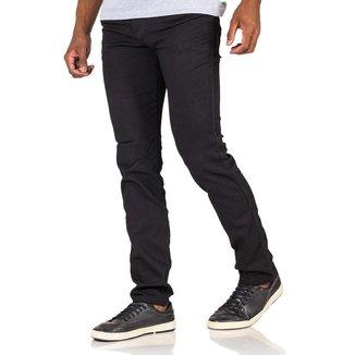Calça Jeans Masculina Sarja Color Tradicional Com Elastano