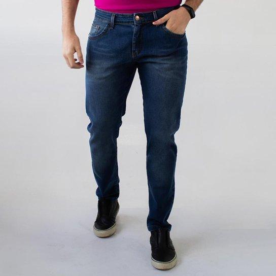 Calça Jeans Masculina Skinny Azul Amaciada Elastano Anticorpus - Única