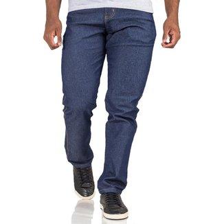 Calça Jeans Masculina Tradicional Plus Size Com Elastano