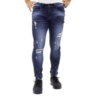 Calça Jeans Masculina Zip-Off