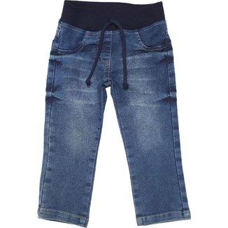 Calça Jeans Menino Ajuste Cós Tecido Algodão Dia a Dia