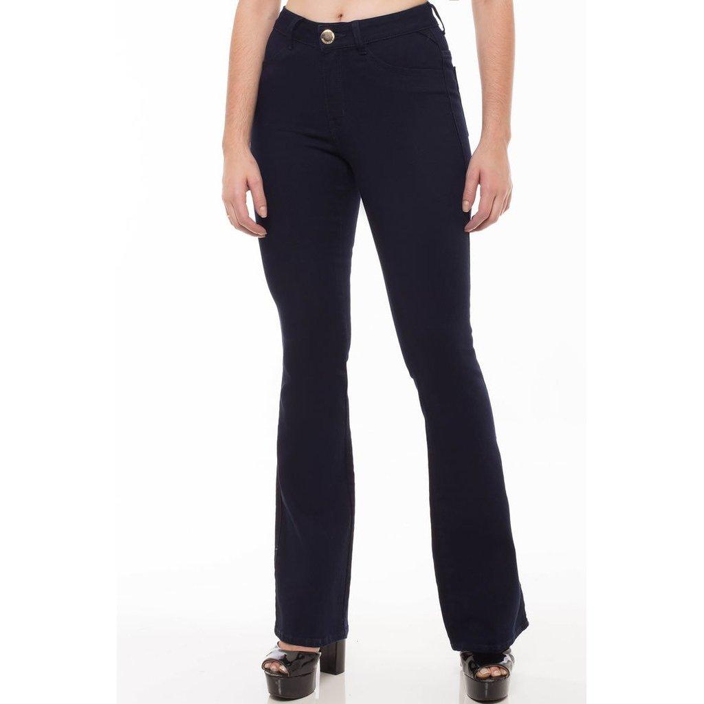 73a03b347 Calça Jeans Mid Rise Flare Denúncia Feminina - Compre Agora