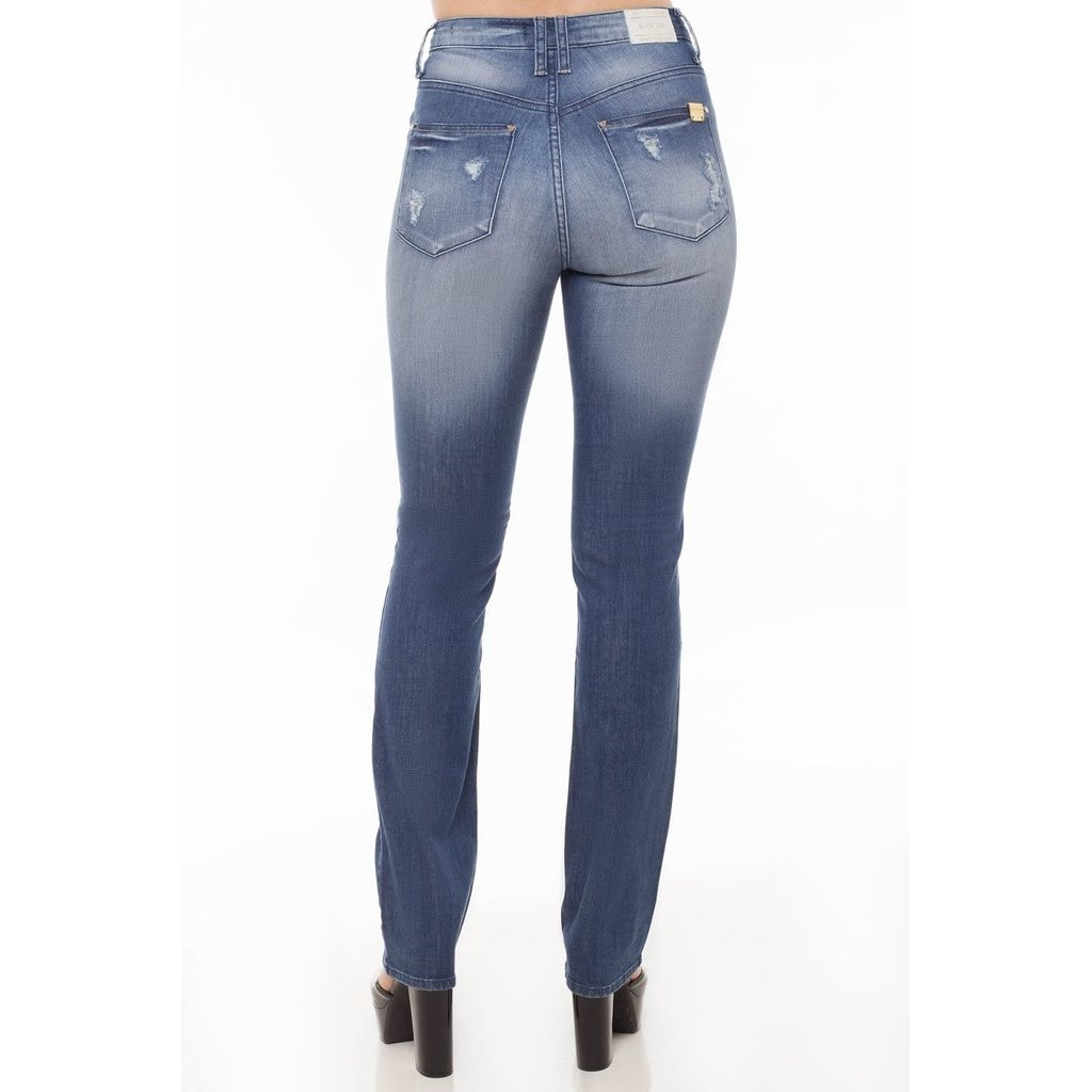 Azul Feminina Jeans Jeans Eventual Mid Slim Rise Mid Calça Calça Uwv1FqwCz