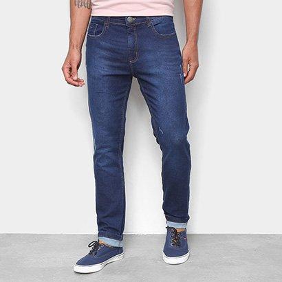 Calça Jeans Moletom Hering Skinny Estonada Masculina - Masculino