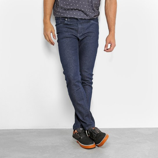 Calça Jeans Okdok Slim Fit Basic Masculina - Azul Escuro