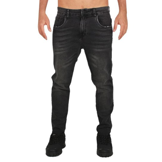 Calça Jeans Okley Denim Fleece Masculina - Preto