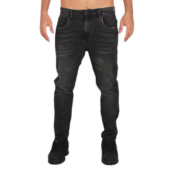 Calça Jeans Okley Denim Fleece Masculina - Preto