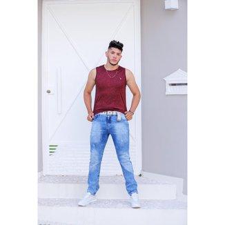 Calça Jeans Oliver Slim Com Cinto Masculina