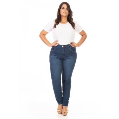 Calça Jeans Plus Size Tradicional Cigarrete Feminina - Feminino