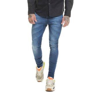 Calça Jeans Premium Laser Super Skinny Masculina