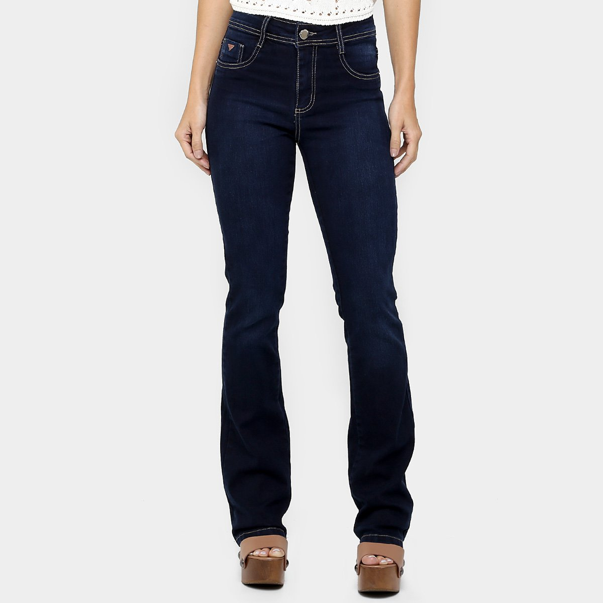 8cee104f9d Calça Jeans Sawary Bootcut Cintura Alta - Compre Agora