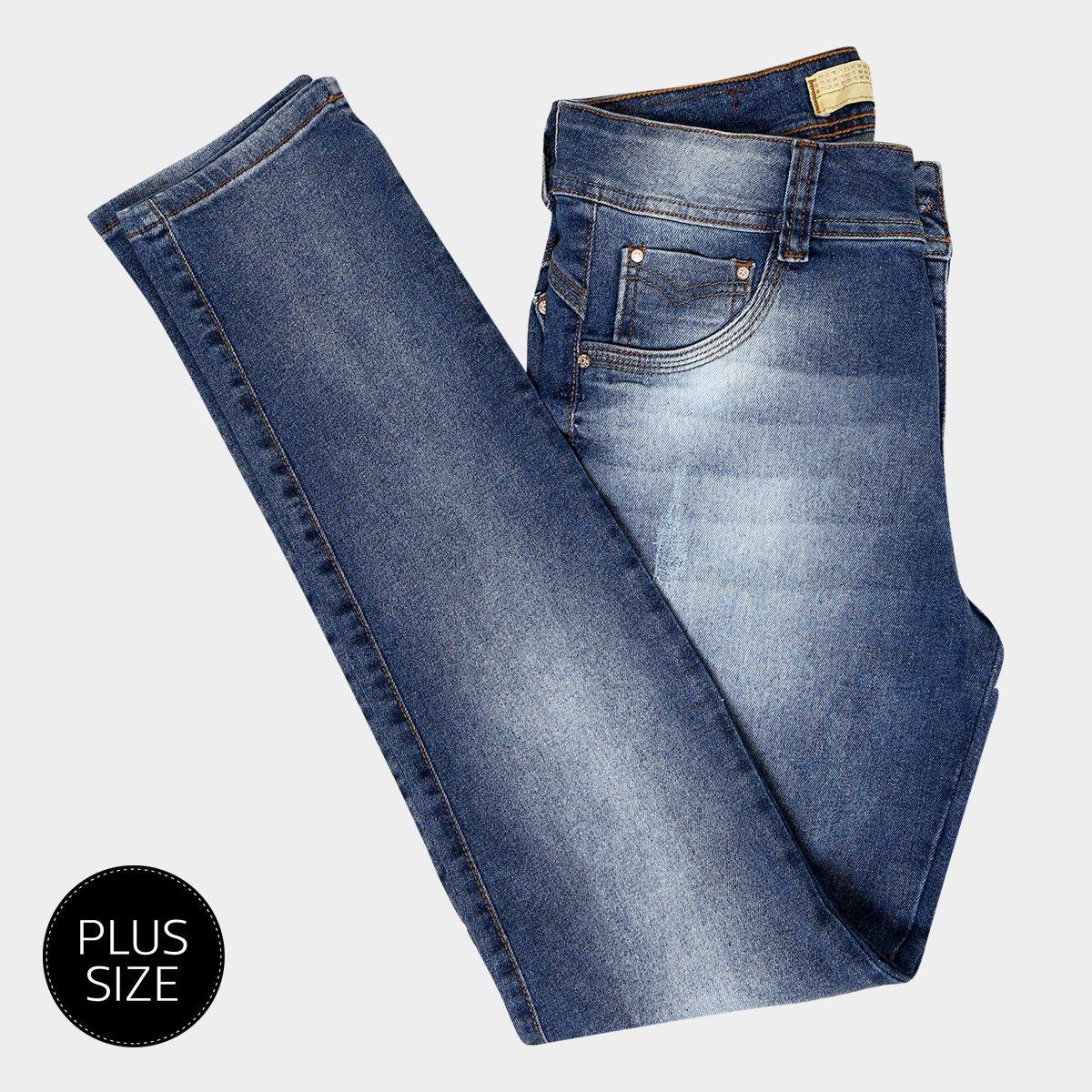9ac7d5d87 Calça Jeans Skinny Biotipo Estonada Cintura Alta Plus Size Feminina -  Compre Agora