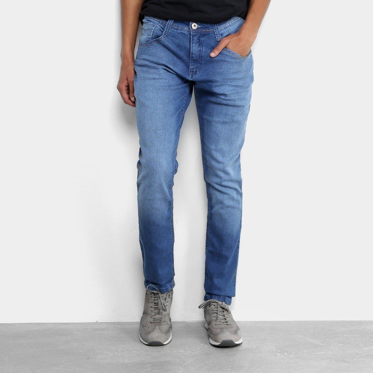 d94fd46121 Calça Jeans Skinny Biotipo Estonada Masculina - Azul Claro - Compre Agora