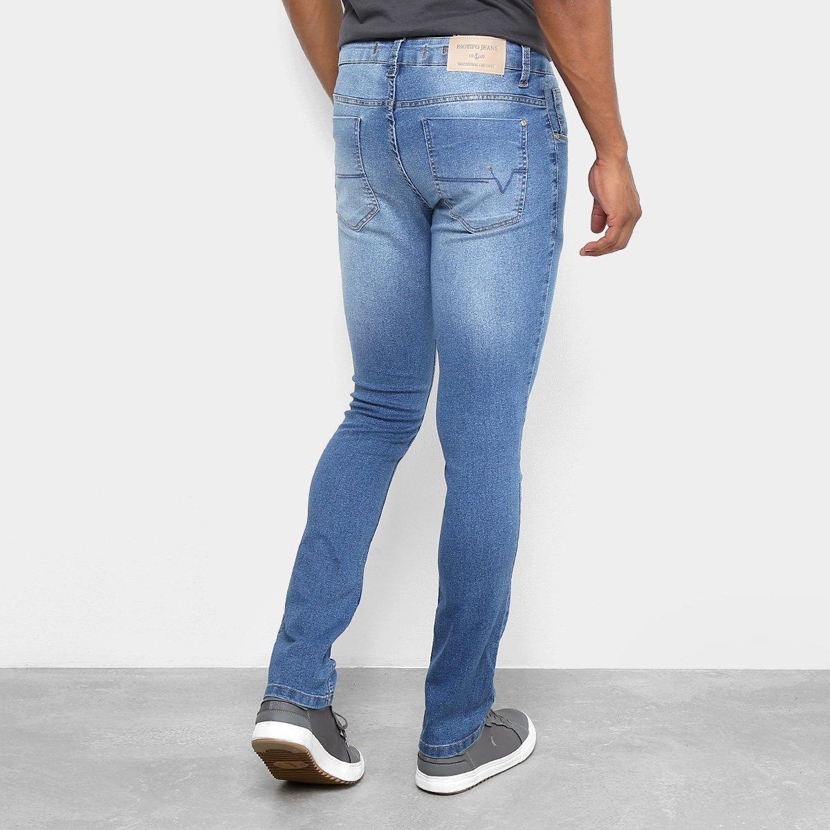 5888631b4e Calça Jeans Skinny Biotipo Estonada Masculina - Azul Claro - Compre ...