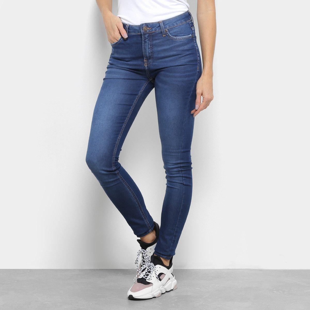 Calça Jeans Skinny Calvin Klein Five Pockets Duper Feminina - Azul ... 4fba2404ea