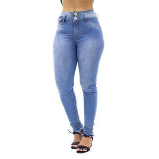 Calça Jeans Skinny com Dois Botões No Alcance