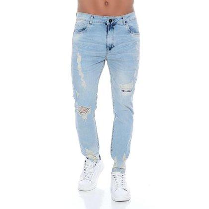 Calça Jeans Skinny Com Rasgos 22 Emporio Alex