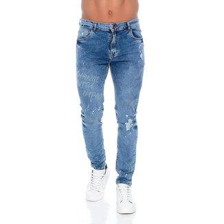 Calça Jeans Skinny Com Respingos 2 Emporio Alex