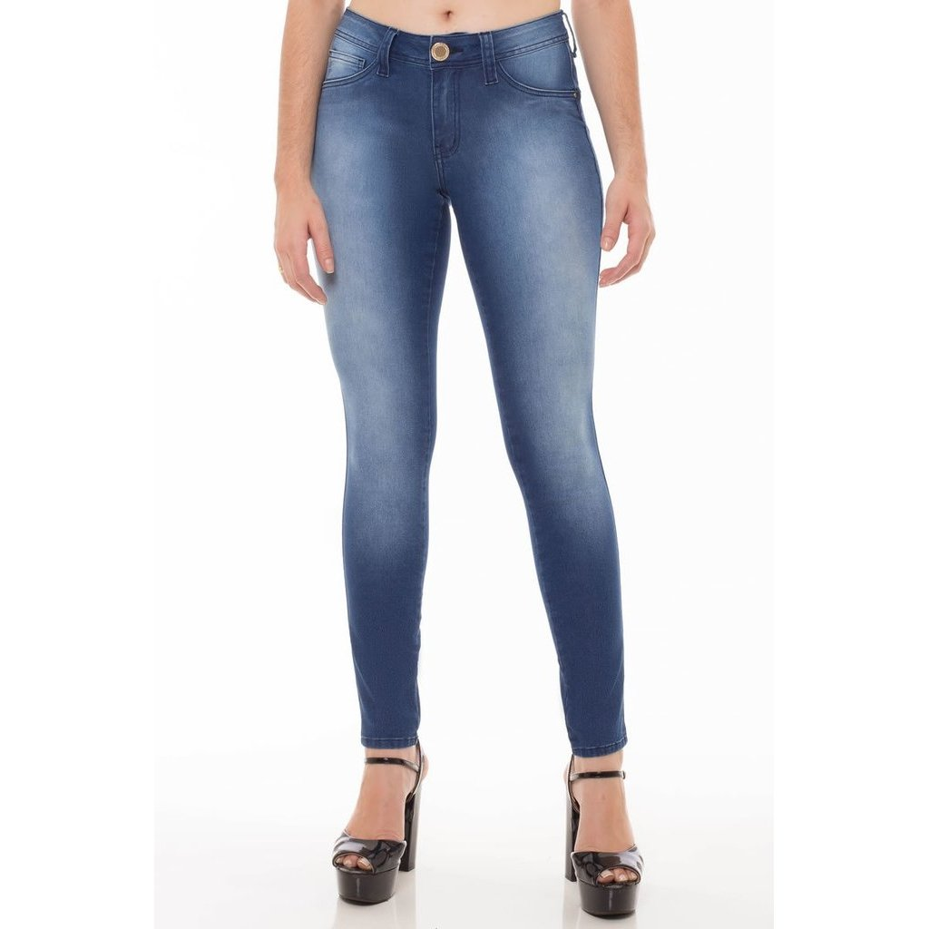 Skinny Calça Jeans Skinny Calça Eventual Jeans Feminina Feminina Eventual Azul Azul d5awZqa