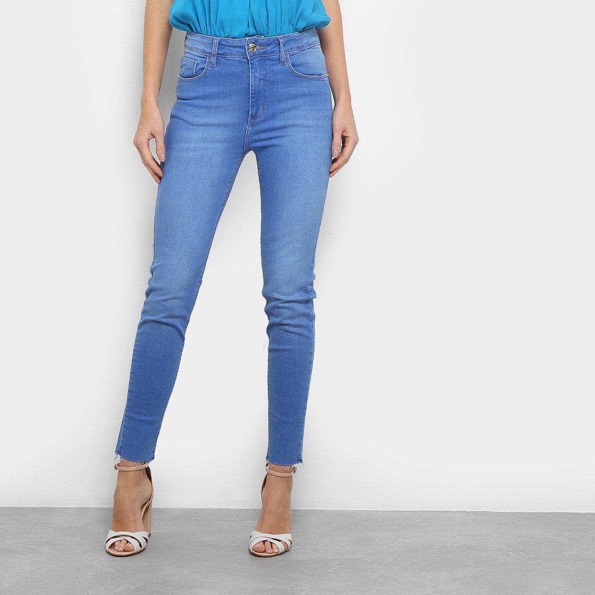 85459906e4 Calça Jeans Skinny Forum Marisa Cintura Alta Feminina - Azul - Compre Agora