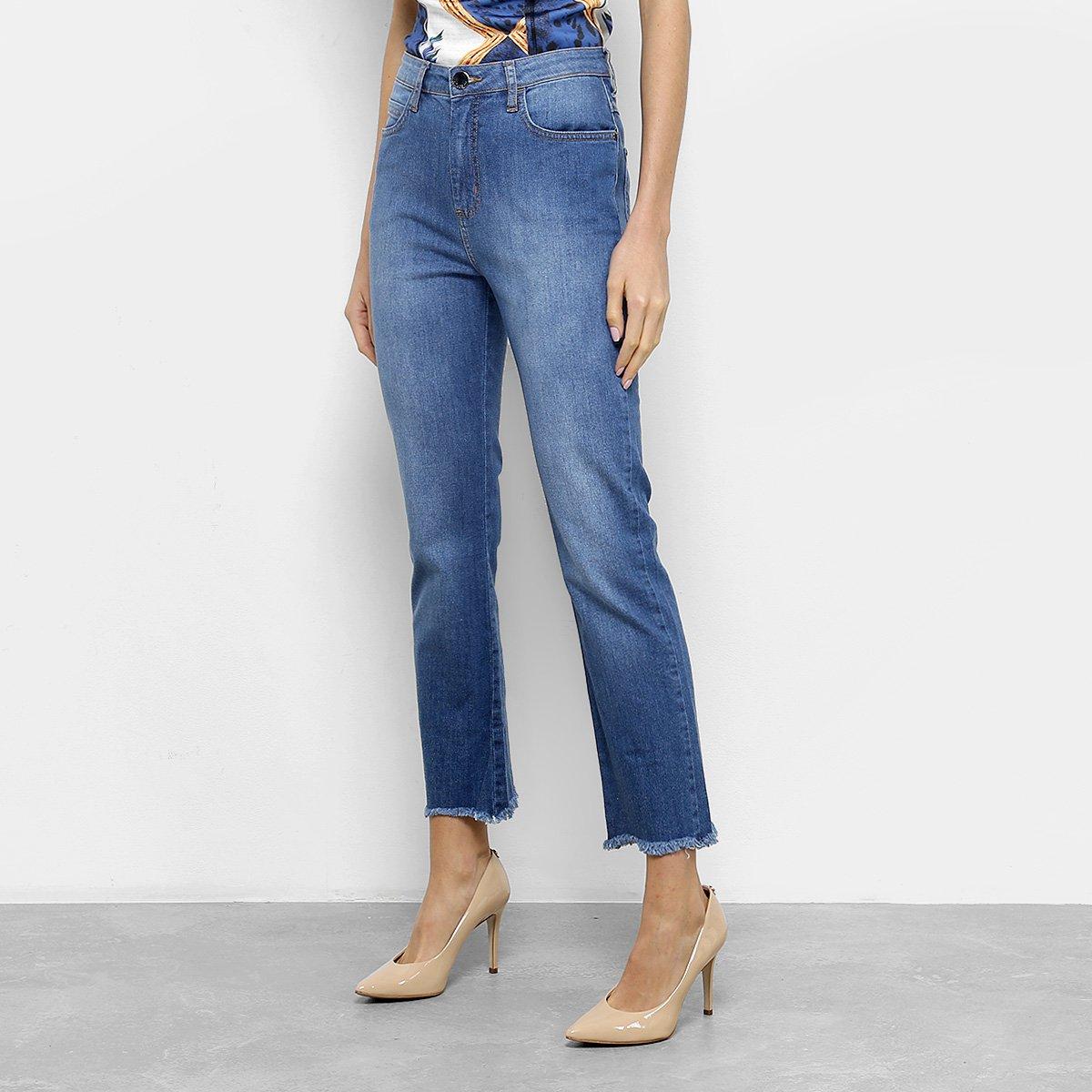 Calça Jeans Skinny Fórum Marisa Cintura Média Feminina - Azul - Compre Agora   71655d7e214