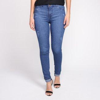 Calça Jeans Skinny Griflle Cintura Média