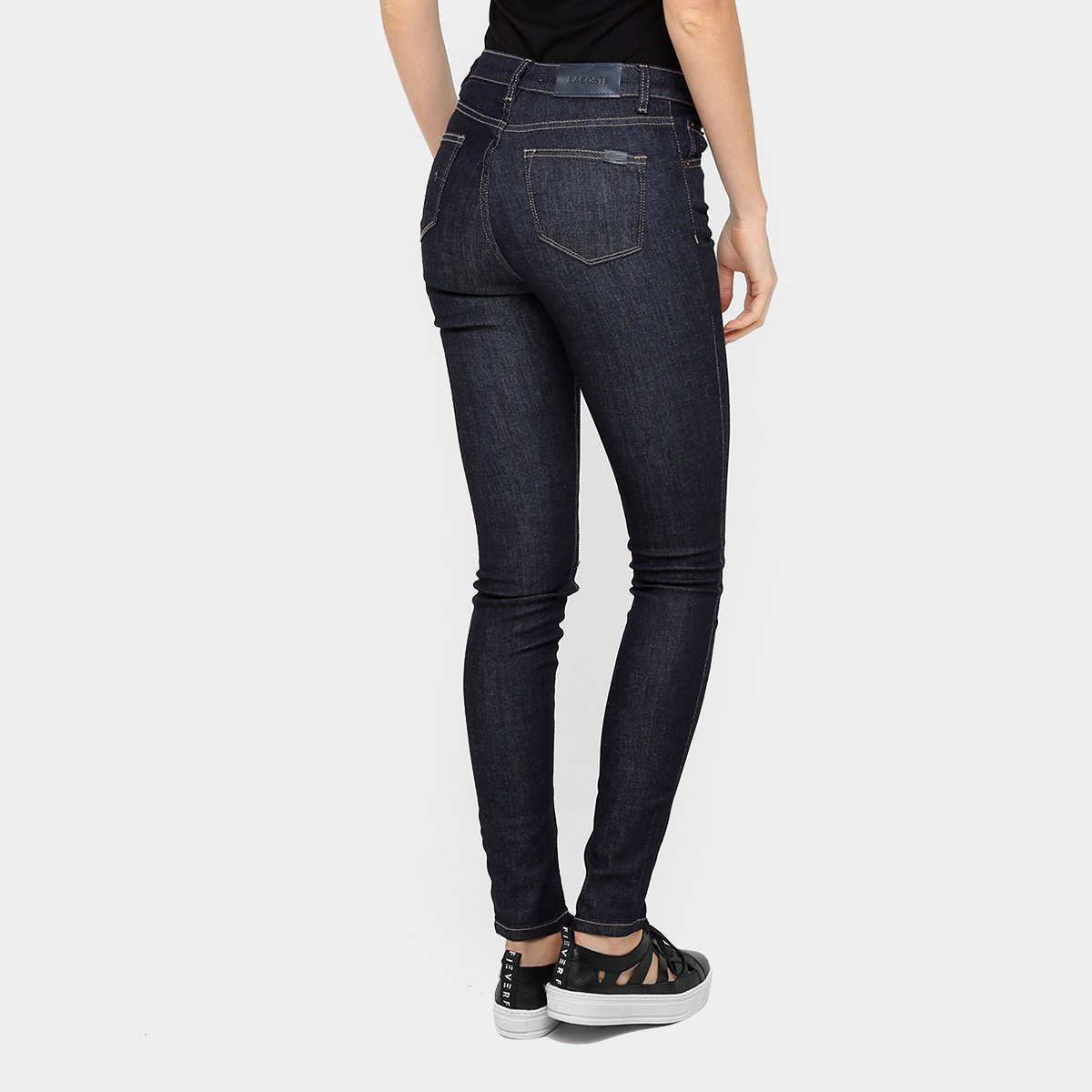 Calça Jeans Skinny Lacoste Lavagem Escura Feminina - Jeans - Compre ... 93de07a33a