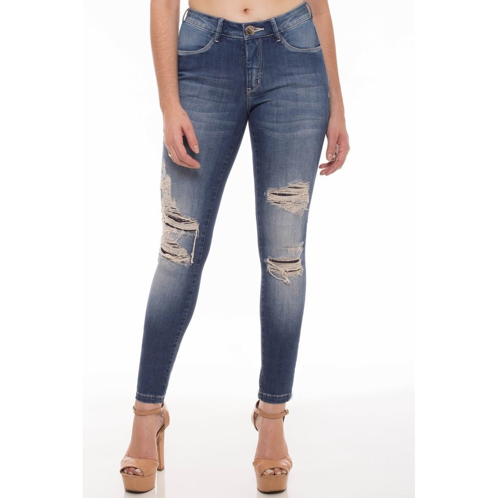 Feminina Calça Jeans Skinny Jeans Osmoze Calça Jeans OgqvwTT4na