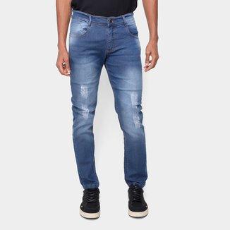 Calça Jeans Skinny Via Quatro Estonada Masculina