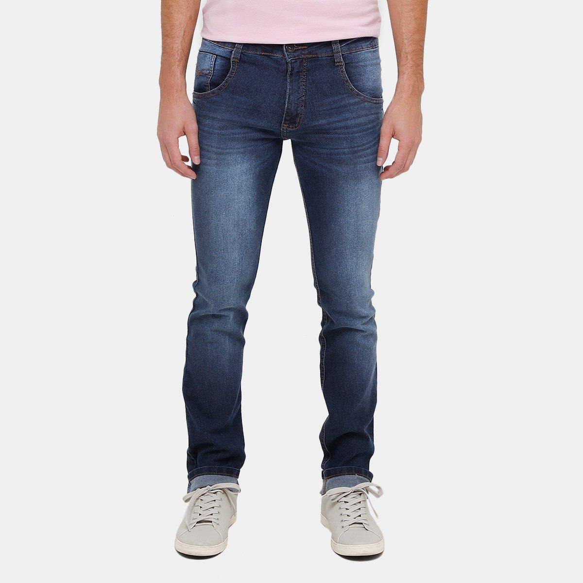 69b0bf3979752 Calça Jeans Slim Biotipo Elastano Masculina - Compre Agora