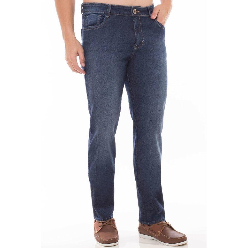 Slim Masculina Calça Fit Jeans Calça Jeans Azul Denúncia pvWn6qS