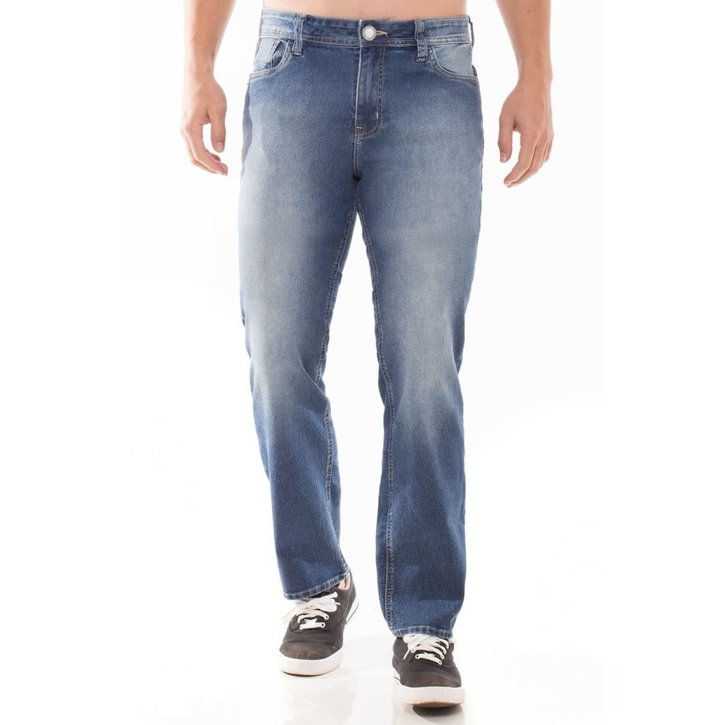 Calça Calça Eventual Jeans Masculina Fit Slim Jeans Azul v6dqn5wqx