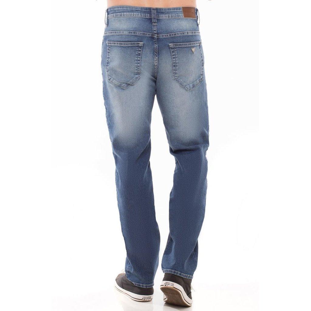 Calça Slim Calça Jeans Azul Masculina Eventual Fit Jeans 5F1Fdxwfq