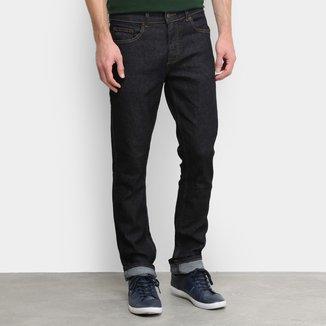 Calça Jeans Slim Lacoste Straight Fit Stone Masculina