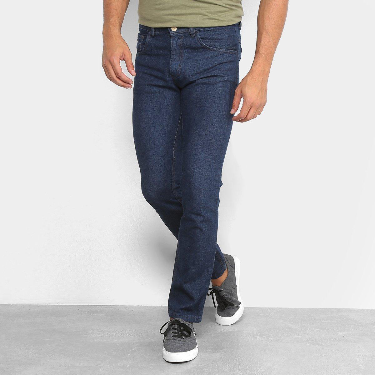 Calça Jeans Slim Rock Blue Básica Tradicional Masculina - Jeans ... 46455c4027f