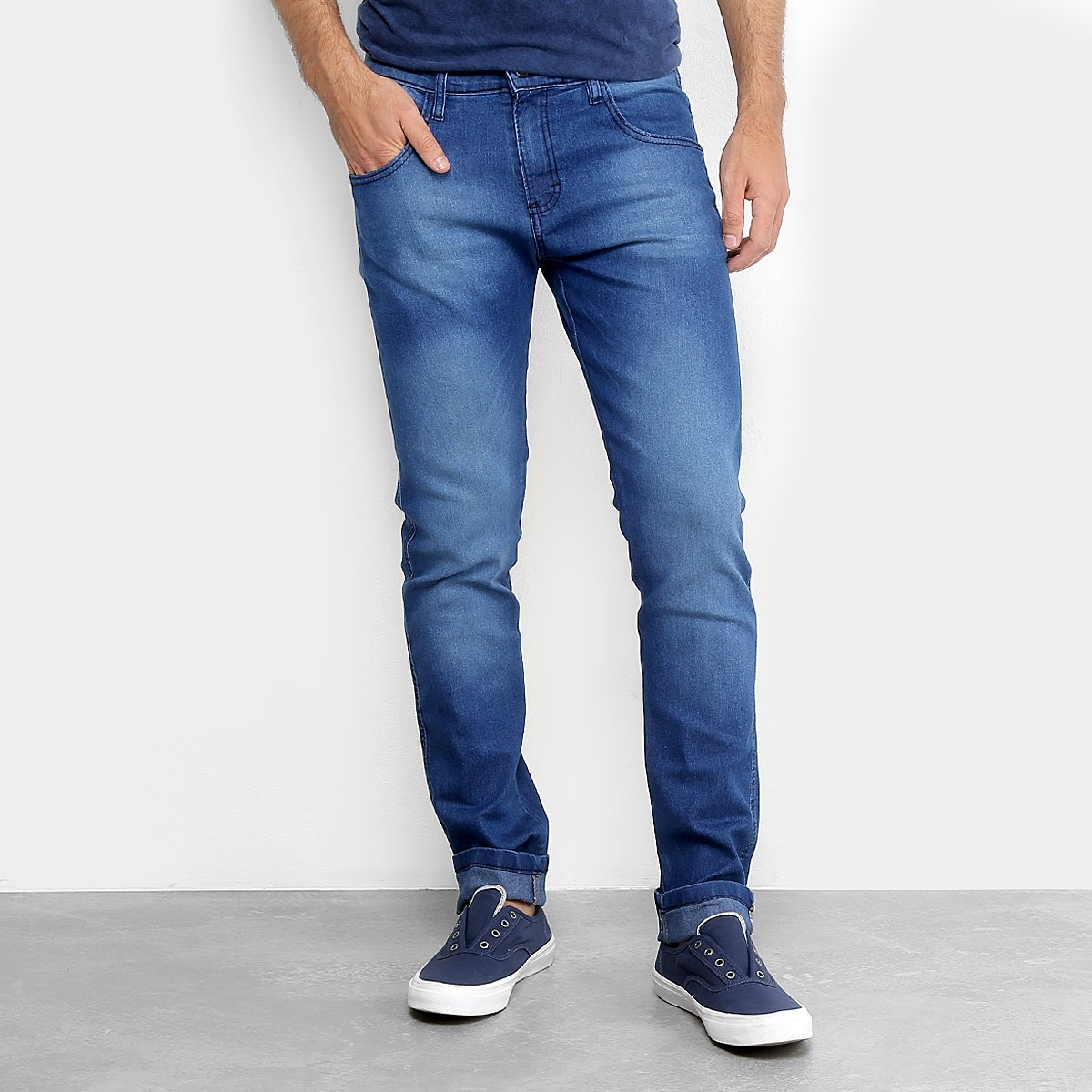 b604bfd92a Calça Jeans Slim Zamany Elastano Masculina | Netshoes