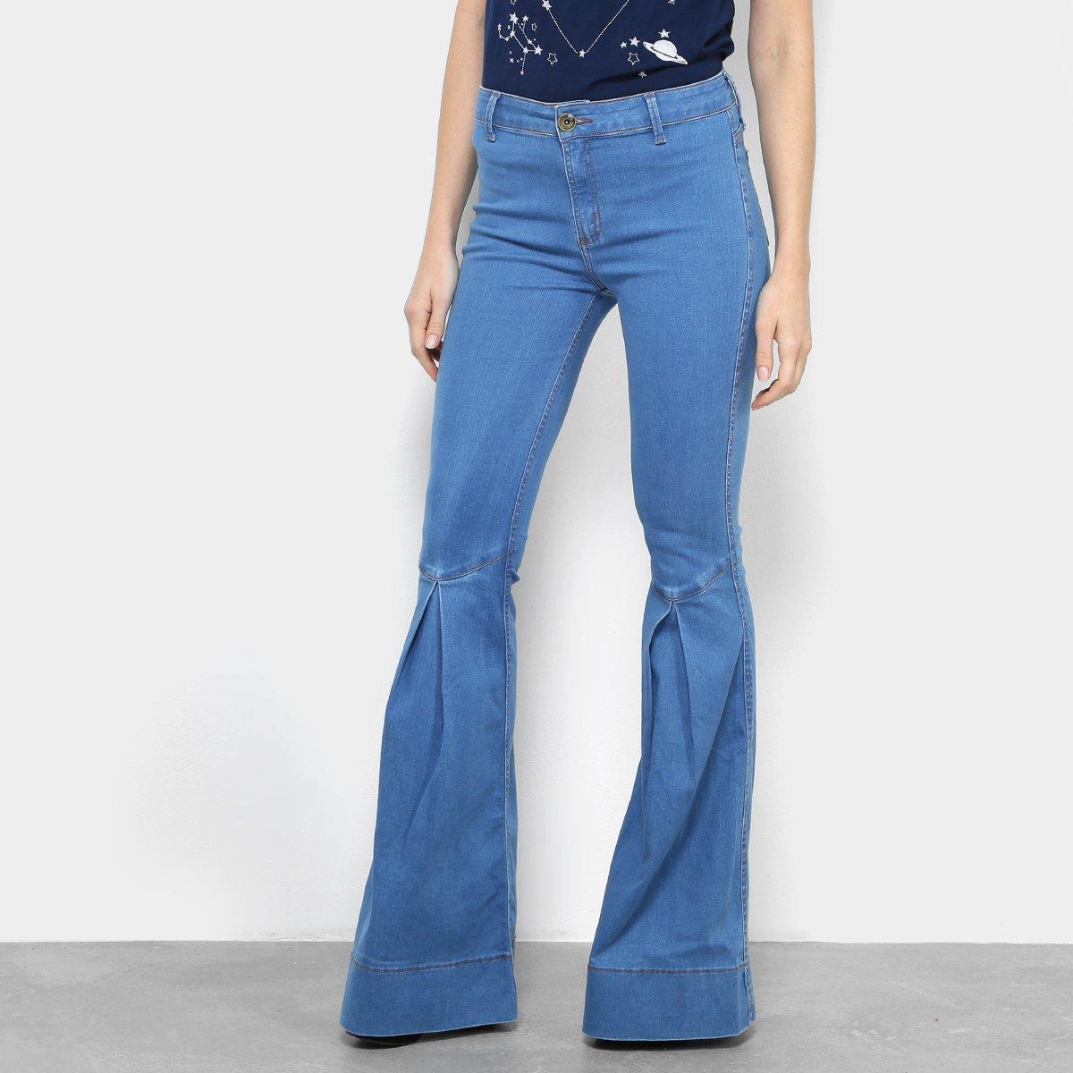 0bb884772 Calça Jeans Super Flare My Favorite Thing Cintura Média Feminina - Azul -  Compre Agora