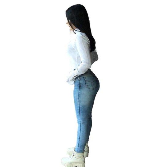 Calça Jeans Vale West  Skinny Azul Claro - Azul Claro