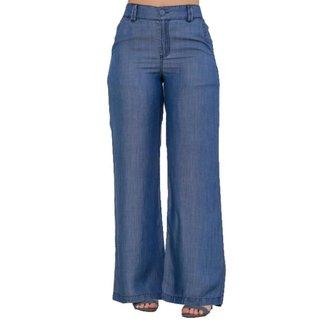 Calça Jeans Zayon Pantalona Azul Clara