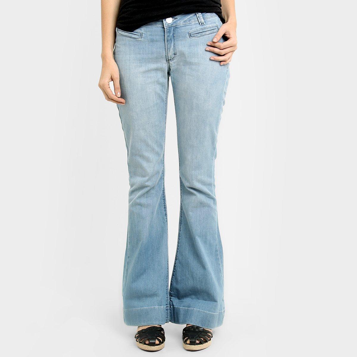 aa90b9a1c Calça Jeans Zune Flare Lavagem Clara   Netshoes