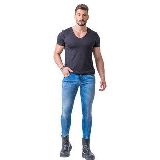 Calça Jeans Zune Masculina Skinny Básica Dia a Dia Casual