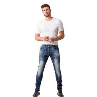 Calça Jeans Zune Masculina Skinny Casual Básica Dia a Dia