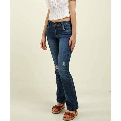Calça Juvenil Jeans Destroyed Flare Razon - 10049697568