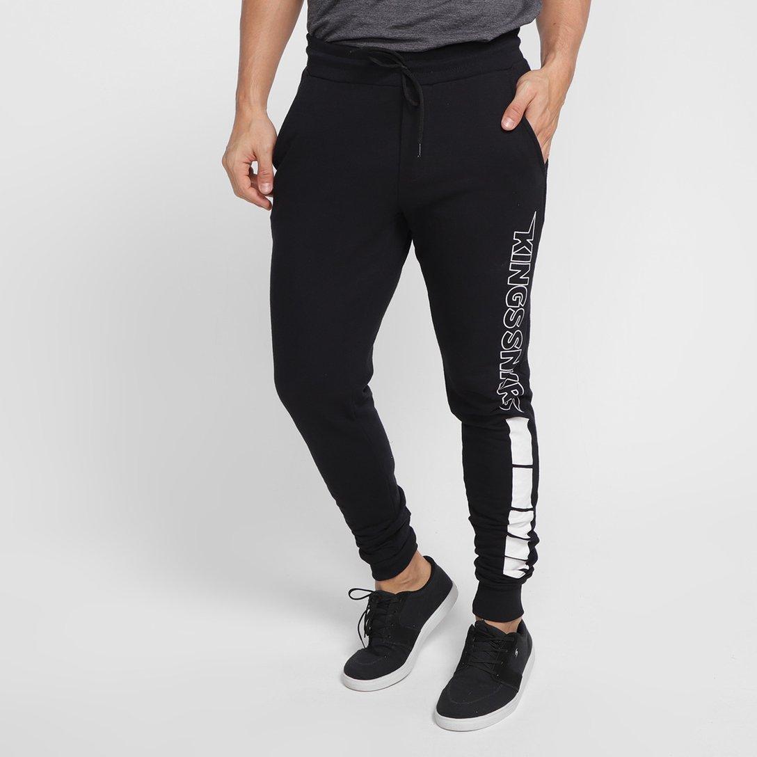 Calça Kings Jogger Logo Snkrs Masculina – Preto