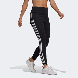 Calça Legging Adidas Cintura Alta 3 Listras Feminina