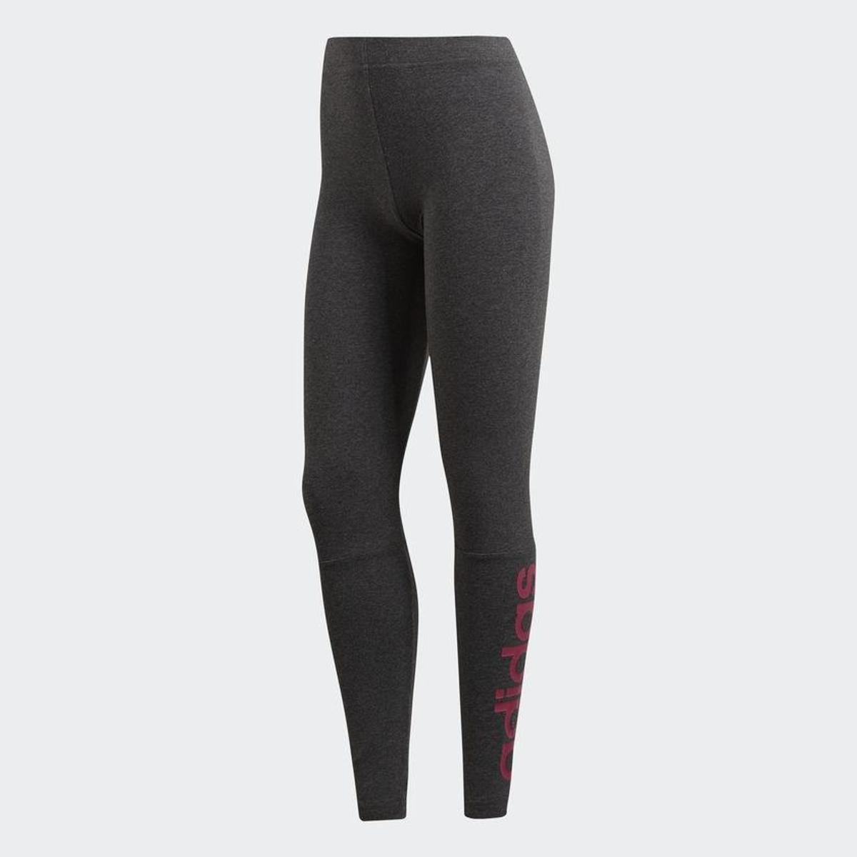Essential Calça Feminina Adidas Legging Calça Linear Legging Cinza wIYxdI