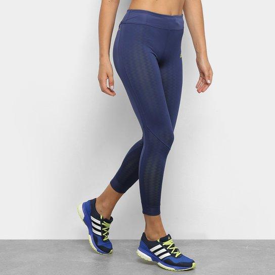 Calça Legging Adidas Own The Run Valentine 7/8 Feminina - Marinho