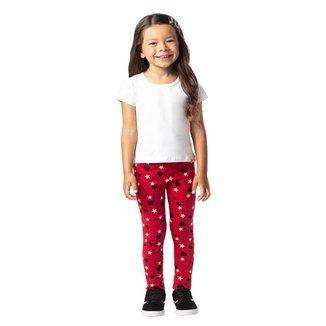 Calça Legging Brandili Em Malha Cotton Menina Infantil